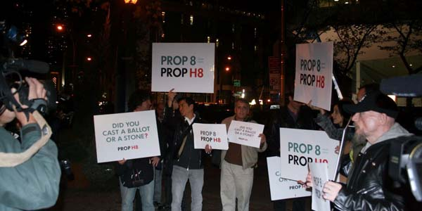 NYC demonstrators November 2009 -  photo by Bruce-Michael Gelbert