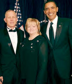 Dennis & Judy Shepard with President Barack Obama - photo courtesy of Matthew Shepard Foundation